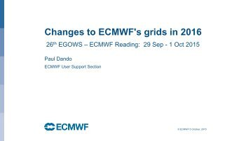Changes to ECMWF's grids in 2016