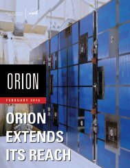 ORION EXTENDS ITS REACH