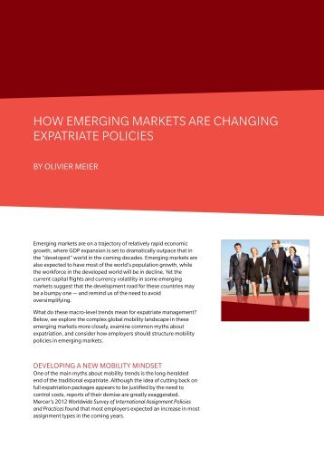 HOW EMERGING MARKETS ARE CHANGING EXPATRIATE POLICIES