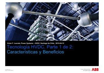 Tecnología HVDC Parte 1 de 2 Características y Beneficios