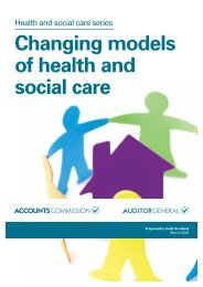 Changing models of health and social care
