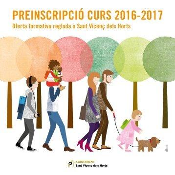 PREINSCRIPCIÓ CURS 2016-2017