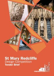 St Mary Redcliffe Architecture Competition Tender Brief Booklet