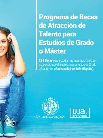 Programa de Becas de Atracción de Talento para Estudios de Grado o Máster