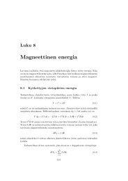 Luku 8 Magneettinen energia