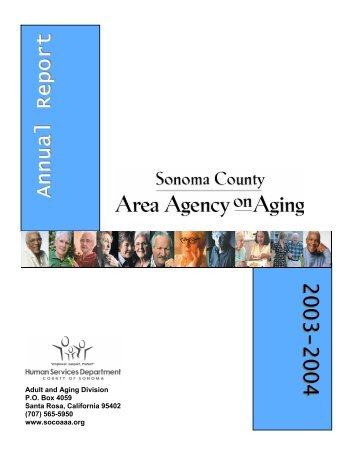 AAA Annual Report.pub - Sonoma County Area Agency on Aging