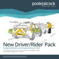 New Driver/Rider Pack