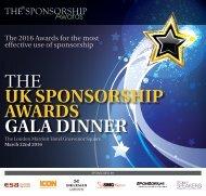 THE UK SPONSORSHIP AWARDS GALA DINNER