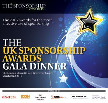 THE UK SPONSORSHIP AWARDS GALA DINNER