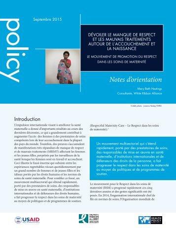 Notes d'orientation