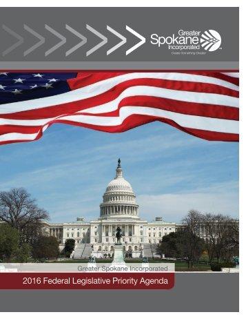 2016 Federal Legislative Priority Agenda