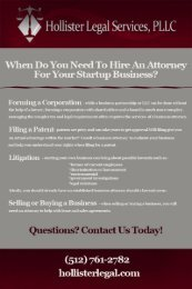 When Do I Need an Austin Startup Business Attorney