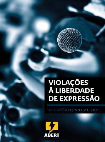 VIOLAÇÕES À LIBERDADE DE EXPRESSÃO