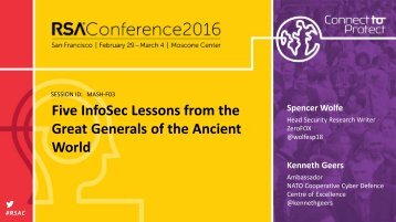 Five InfoSec Lessons from the Great Generals of the Ancient World