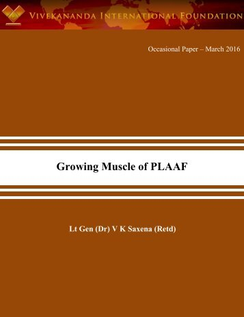 Growing Muscle of PLAAF