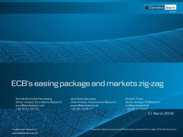 ECB's easing package and markets zig-zag
