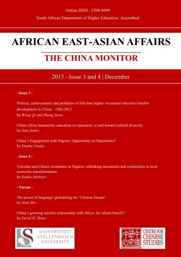 AFRICAN EAST-ASIAN AFFAIRS