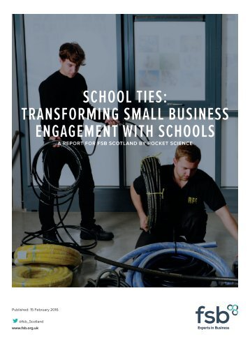School Ties Transforming Small Business Engagement with Schools