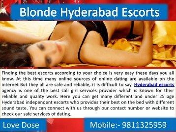Blonde Hyderabad Escorts for Fun