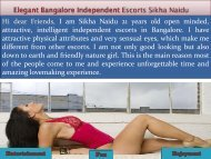 Top Bangalore escorts services Sikha Naidu