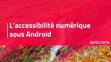 L'accessibilité numérique sous Android