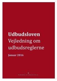 Udbudsloven Vejledning om udbudsreglerne