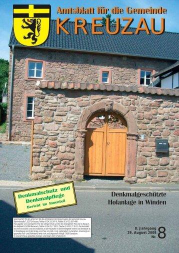 Amtsblatt Nr. 08/2008 vom 29.08.2008 - Gemeinde Kreuzau