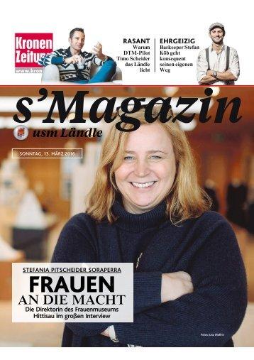 s'Magazin usm Ländle, 13. März 2016