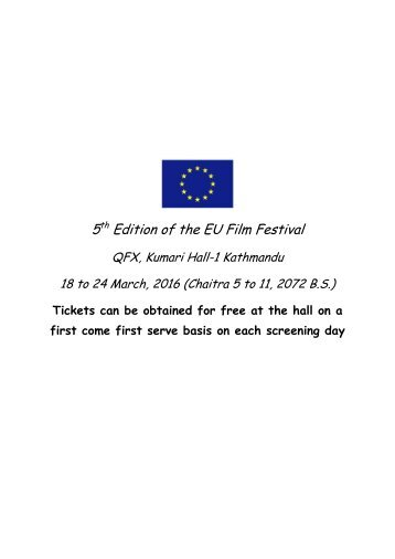 5 Edition of the EU Film Festival