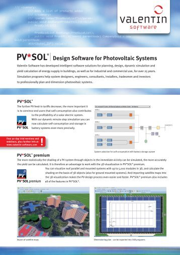 Valentin Software Product Information