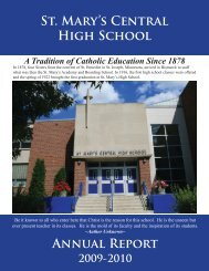 2009-2010 Annual Report - St. Mary's Central High School