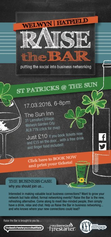 Raise the Bar invite - St Patricks Day