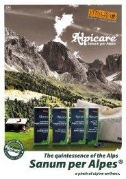 Alpicare menu EN