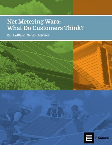 Net Metering Wars What Do Customers Think?