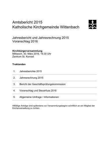 Amtsbericht 2015 Wittenbach