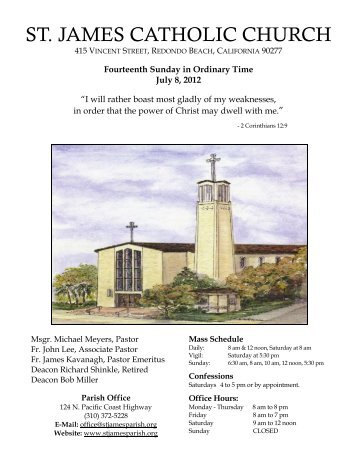 Fourteenth Sunday in Ordinary Time July 8, 2012 - St. James Parish