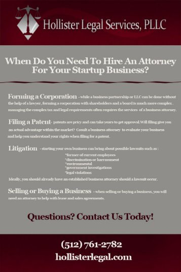 When Do I Need an Austin Startup Business Attorney?