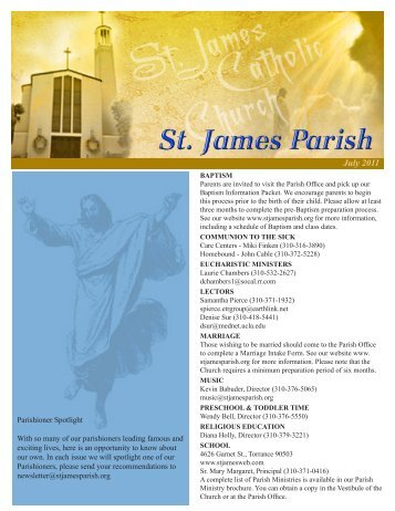 July 2011 - St. James Parish