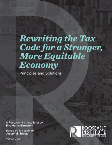 Rewriting the Tax Code for a Stronger More Equitable Economy