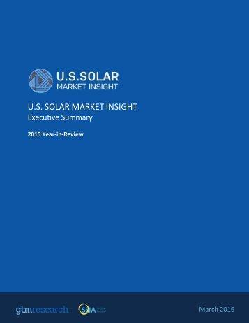 U.S SOLAR MARKET INSIGHT