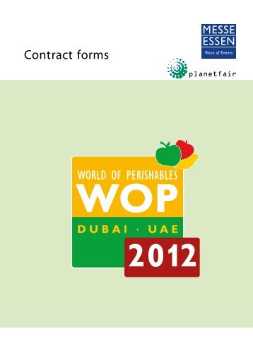 General terms and conditions WOP DUBAI 2012