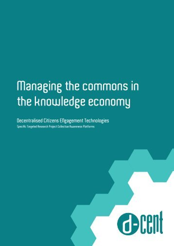 Managing the commons in the knowledge economy