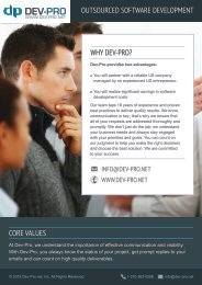 Download White Papers - Dev-Pro.net