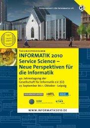 INFORMATIK 2010 Service Science – Neue Perspektiven für die ...