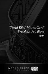 World Elite MasterCard Priceless Privilèges