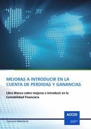Libro Blanco sobre mejoras a introducir en la Contabilidad Financiera