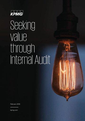 Seeking value through Internal Audit