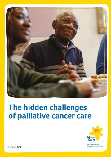 The hidden challenges of palliative cancer care