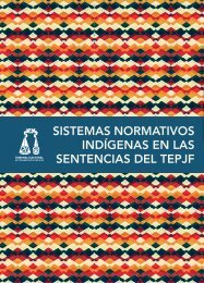 Sistemas normativos indígenas en las sentencias del tepjf
