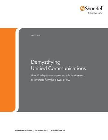 WP B UnifiedComm1-11.indd - Unified Communications Charlotte